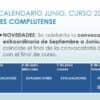 Calendario de junio IES Complutense