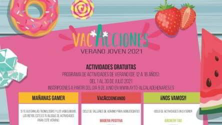Programa de actividades de verano para jóvenes de 12 a 16 años de Alcalá de Henares